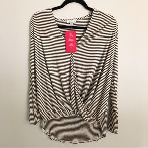 NWT Evereve Allison Joy long sleeve striped shirt